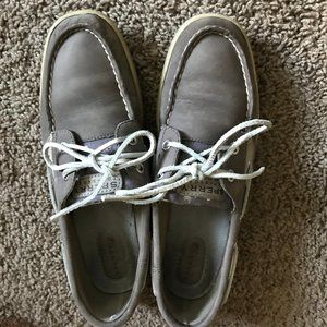 Sperry Topsider Women's Gray  Boat Shoes